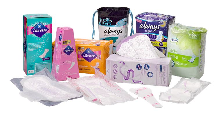 Sanitary napkins libresse all products
