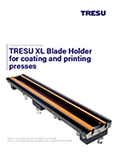 TRESU XL Blade Holder for coating and printing presses - FlexoConcept® TruPoint Orange®